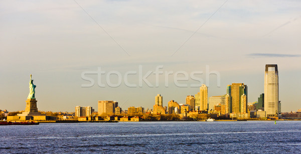 Statue of Liberty and New Jersey, New York, USA Stock photo © phbcz