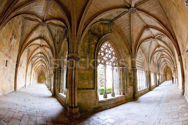 Royal cloister of Santa Maria da Vitoria Monastery, Batalha, Est Stock photo © phbcz
