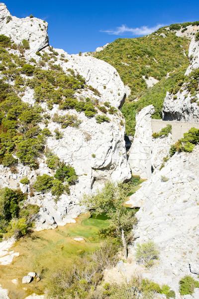 Galamus Gorge, Languedoc-Roussillon, France Stock photo © phbcz
