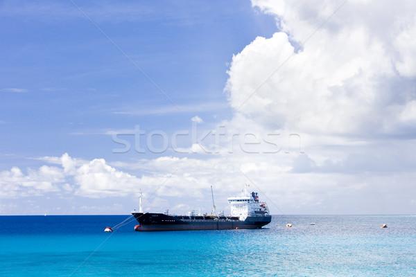 ship on Caribbean Sea, Barbados Stock photo © phbcz