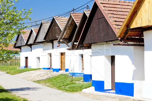 şarap Çek Cumhuriyeti mimari köy Stok fotoğraf © phbcz