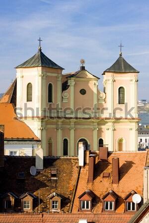 église vue tour Bratislava Slovaquie bâtiment Photo stock © phbcz