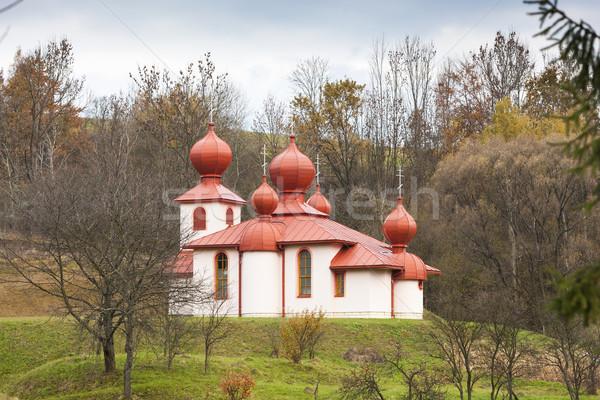 Orthodoxe église Slovaquie architecture Europe extérieur Photo stock © phbcz