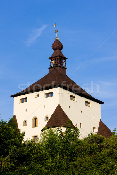 Novo castelo Eslováquia edifício edifícios arquitetura Foto stock © phbcz
