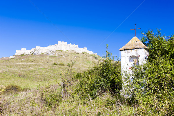 Spissky Castle and God''s torture at front, Slovakia Stock photo © phbcz