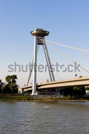 Nouvelle pont Bratislava Slovaquie bâtiment ville Photo stock © phbcz