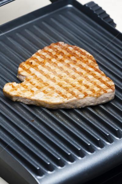 tuna steak on electric grill Stock photo © phbcz