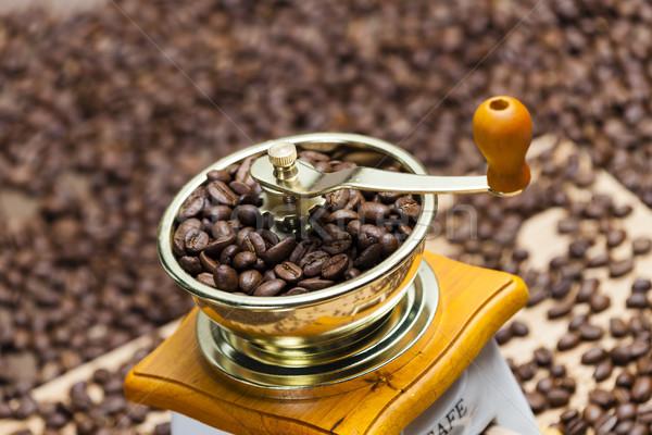 подробность кофе мельница кофе землю объект Сток-фото © phbcz