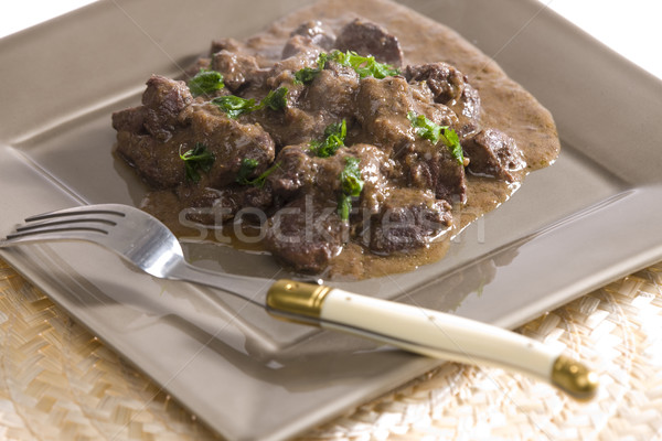 venison goulash with red wine Stock photo © phbcz