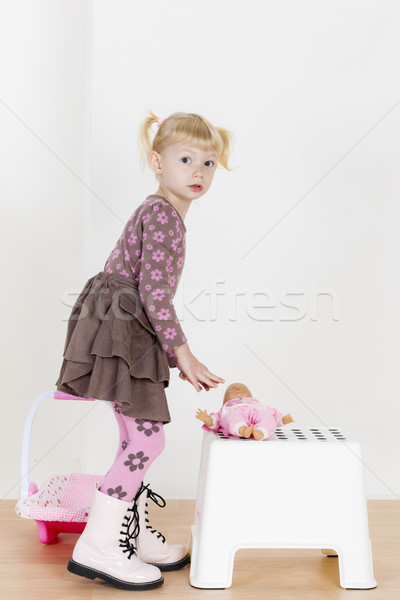女の子 演奏 人形 少女 子 子供 ストックフォト © phbcz