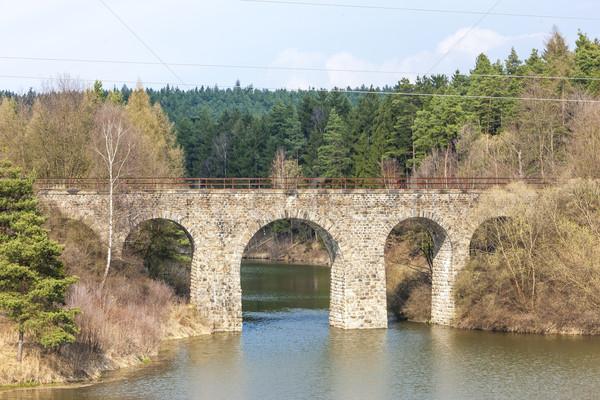 Ferrovia República Checa ponte rio arquitetura europa Foto stock © phbcz