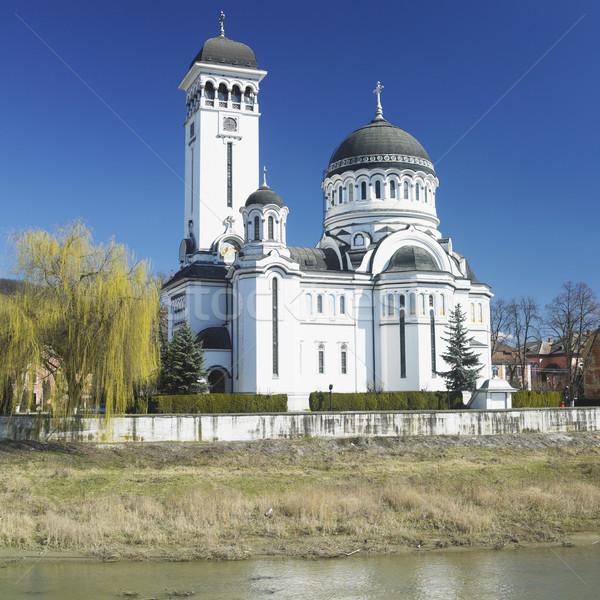 Ortodoks katedral Romanya Bina mimari tapınak Stok fotoğraf © phbcz