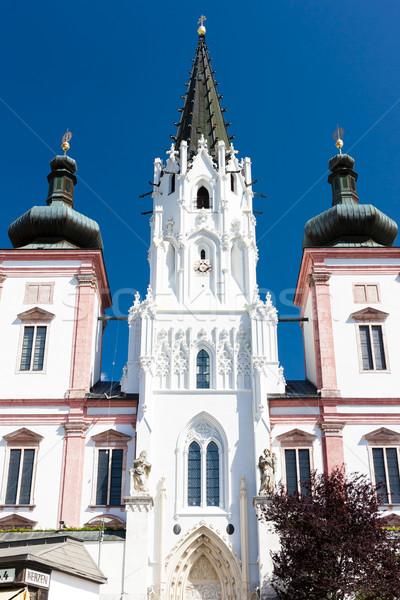 Bedevaart basiliek Oostenrijk gebouw reizen architectuur Stockfoto © phbcz