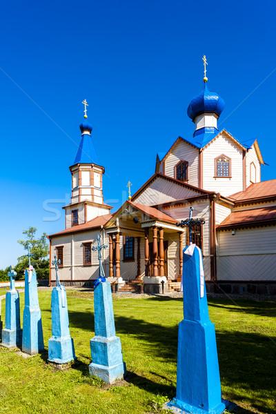 wooden Orthodox church of Saint James, Losinka, Podlaskie Voivod Stock photo © phbcz