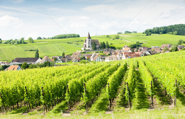 Stockfoto: Frankrijk · reizen · gebouwen · architectuur · dorp · outdoor