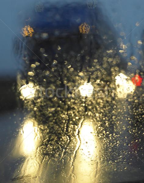 camion in the rain Stock photo © phbcz