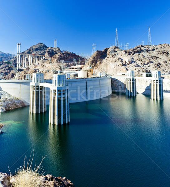 Hoover Dam USA water gebouw energie architectuur Stockfoto © phbcz