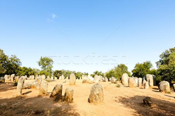 Cromlech of Almendres near Evora, Alentejo, Portugal Stock photo © phbcz