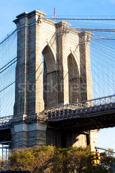 detail of Brooklyn Bridge, Manhattan, New York City, USA Stock photo © phbcz