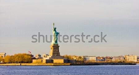 свободы острове статуя Нью-Йорк США путешествия Сток-фото © phbcz