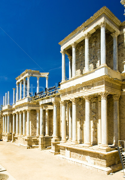 Roman Theatre, Merida, Badajoz Province, Extremadura, Spain Stock photo © phbcz