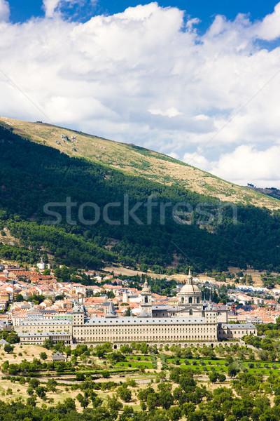 Spanje gebouw architectuur geschiedenis stad outdoor Stockfoto © phbcz