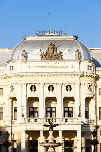 Teatru Bratislava Slovacia constructii teatru arhitectură Imagine de stoc © phbcz