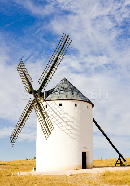 windmill, Campo de Criptana, Castile-La Mancha, Spain Stock photo © phbcz