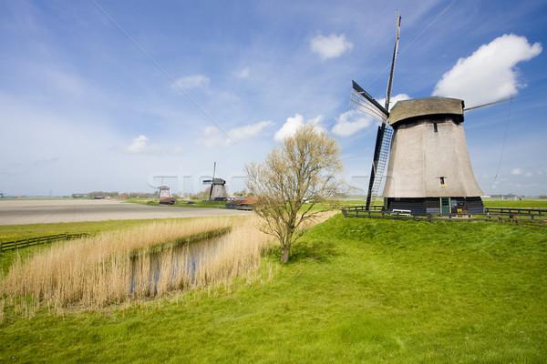 オランダ 旅行 風車 ミル 屋外 外 ストックフォト © phbcz