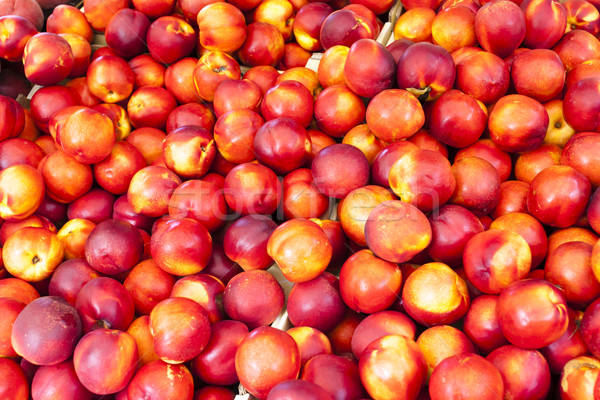 plums, market in Nyons, Rhone-Alpes, France Stock photo © phbcz