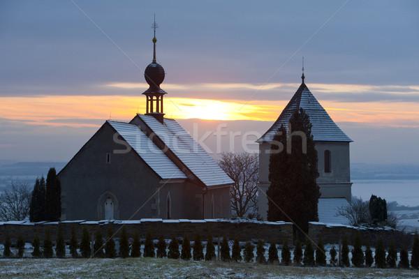 church in Vaclavice, Czech Republic Stock photo © phbcz
