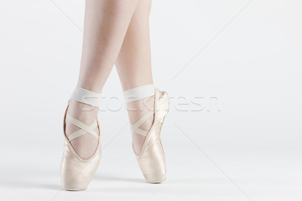 detail of ballet dancer''s feet Stock photo © phbcz