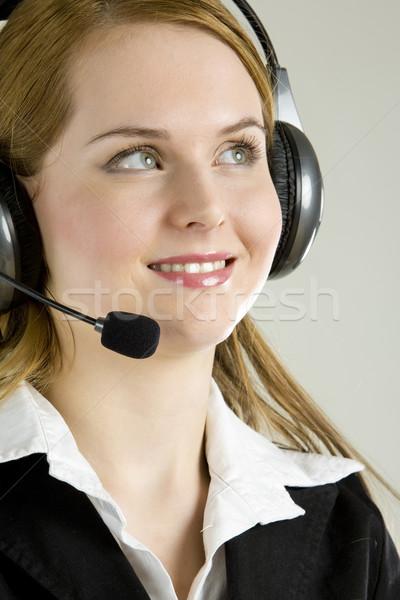 Stock photo: operator's portrait