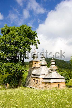 wooden church, Dubne, Poland Stock photo © phbcz