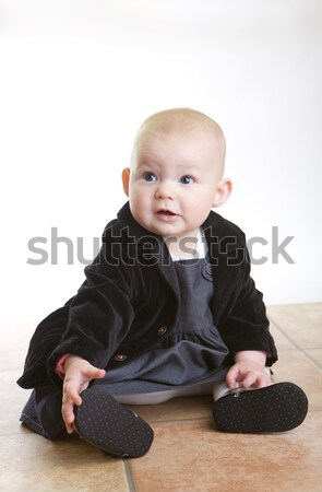 sitting baby Stock photo © phbcz