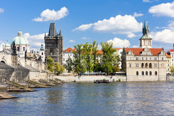 Charles bridge, Prague, Czech Republic Stock photo © phbcz