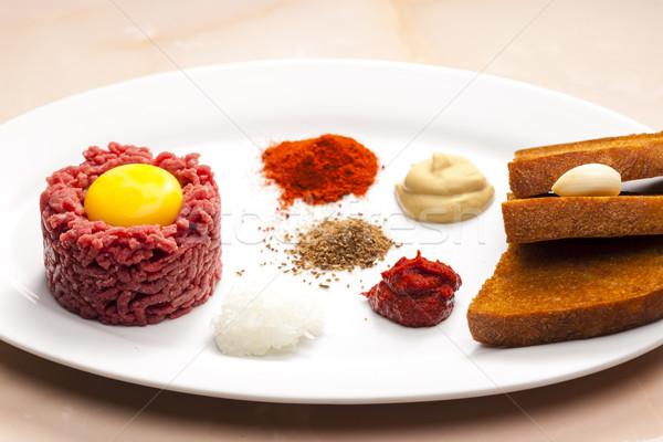 Lombo de vaca bife carne brinde refeição prato Foto stock © phbcz