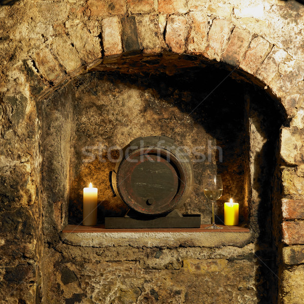 wine cellar, Litomerice, Czech Republic Stock photo © phbcz
