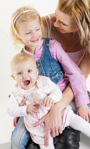 Retrato mãe bebê filha família menina Foto stock © phbcz