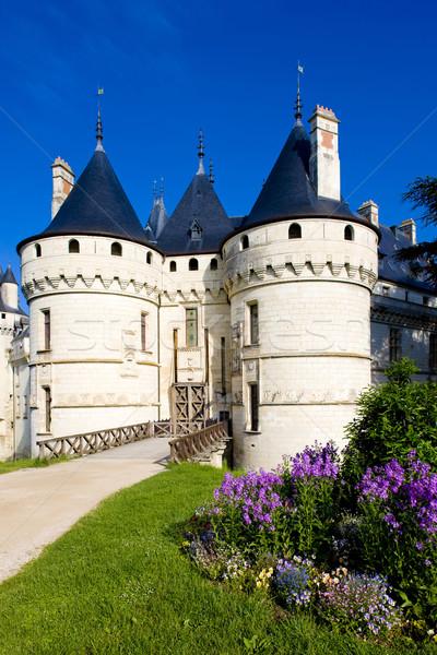 Сток-фото: замок · центр · Франция · цветы · здании · путешествия