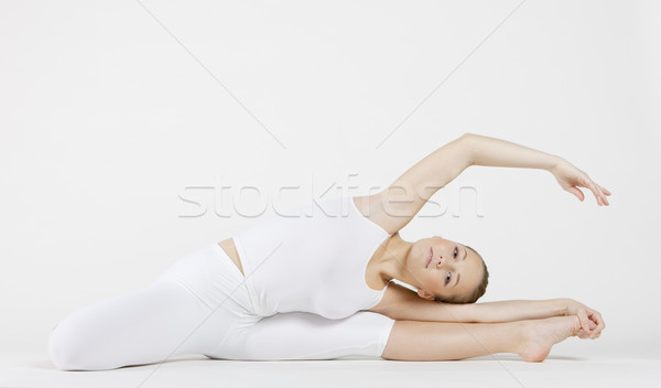 ballet dancer doing stretching Stock photo © phbcz