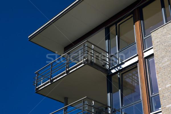 Társasház Norvégia ház ablak épületek építészet Stock fotó © phbcz