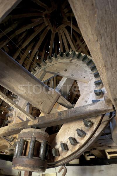 interior of windmill, Vensac, Aquitaine, France Stock photo © phbcz