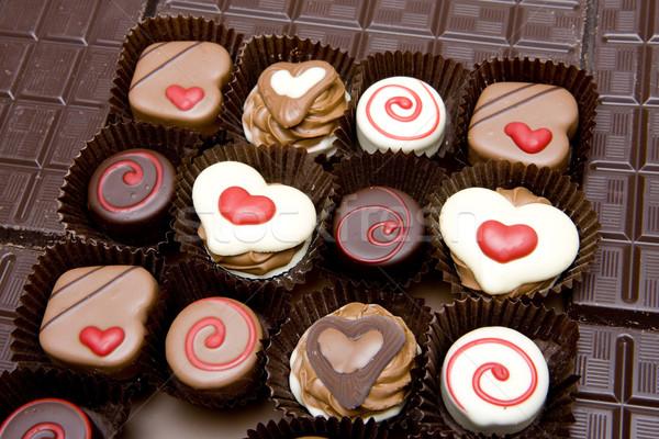 chocolate candies Stock photo © phbcz