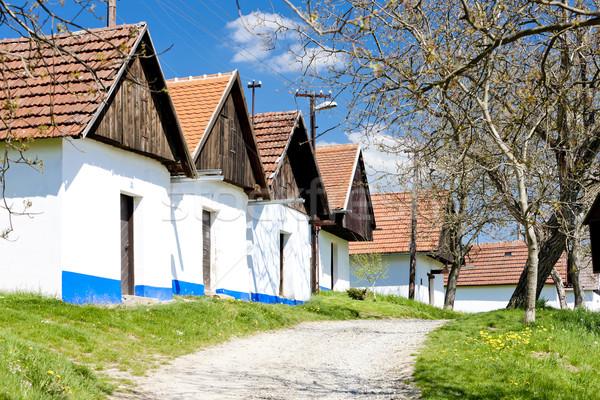 şarap Çek Cumhuriyeti Bina mimari açık havada kırsal Stok fotoğraf © phbcz