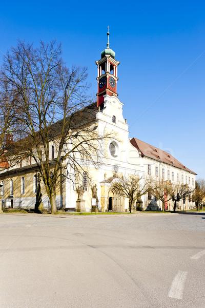 Kerk maagd onderstelling klooster politie Tsjechische Republiek Stockfoto © phbcz