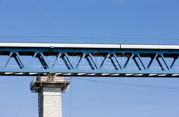 Detail spoorweg Tsjechische Republiek architectuur bruggen outdoor Stockfoto © phbcz