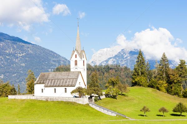 Suíça paisagem igreja montanhas arquitetura europa Foto stock © phbcz