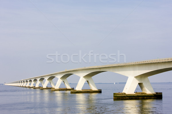 Сток-фото: Нидерланды · воды · моста · зданий · архитектура · конкретные
