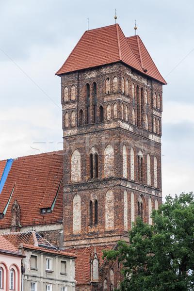 Kerk Polen huis gebouw stad reizen Stockfoto © phbcz